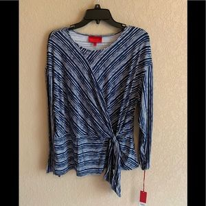 NWT Jennifer Lopez L/S Side Tie Knit Blouse
